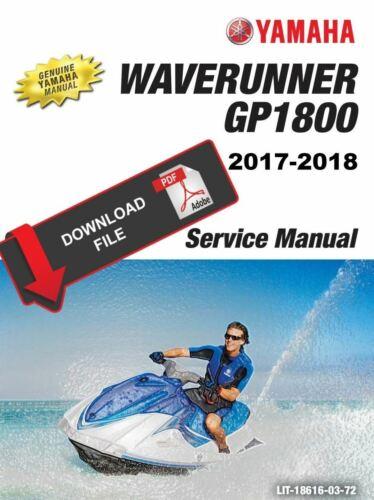 Yamaha 2018 Waverunner GP1800 Service Manual