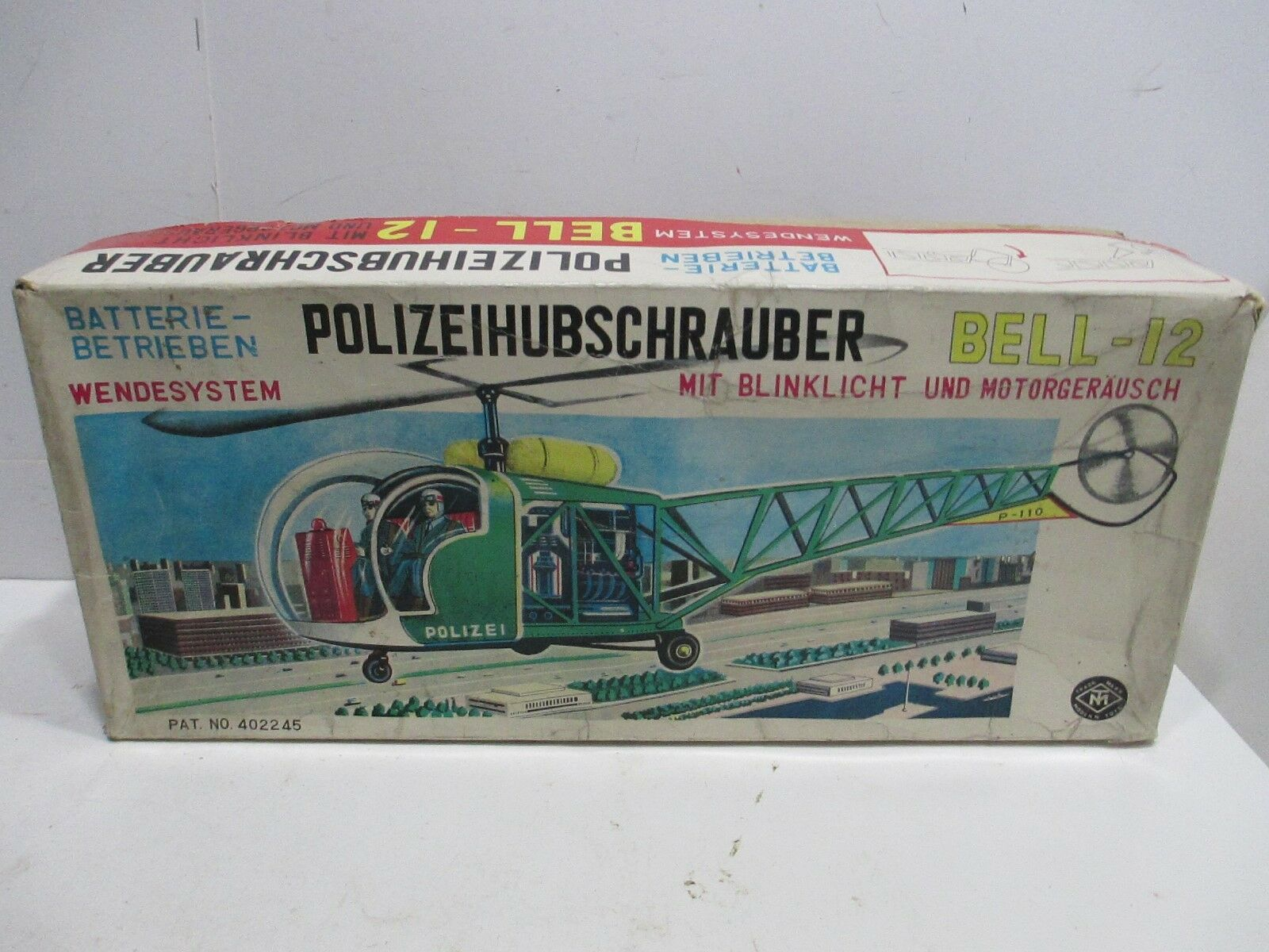 HELICOPTER BELL 12 12 12 POLICE PARTOL MINT IN BOX BATTERY OP TESTED WORKS GOOD eff1d1