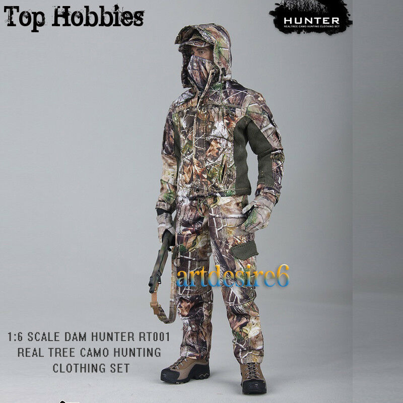 1 6 Realtree Camo Hunting Clothing Set Soldier Clothing Fit 12  Body Figure Toy
