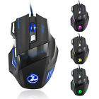 5500 DPI 7 Button LED Optical USB Wired Gaming Mouse Mice For Pro Gamer Cheap