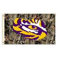 Ncaa Lsu Tigers 3 X 5-feet Realtree Camo Background Flag With Grommets, New, Fre on sale
