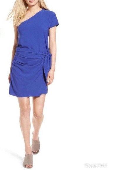 Trouve Womens Purple One Shoulder Dress Spring Poylester Sz L NEW NWT