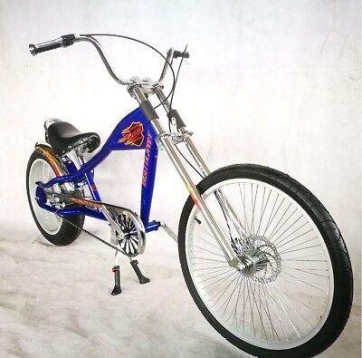 Vélo Custom Poignées Noir Bleu Rouge Cruiser Lowrider chopper vélos