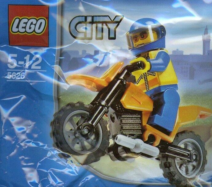 LEGO City 5626 garde-côtes Biker Coast Guard BIKE  rare rare rare 9075da