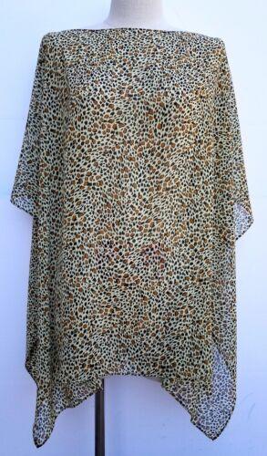Women/'s Shawl Wrap Brand New,100/% Handmade in USA Brown Leopard Pattern