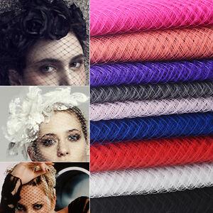 Image is loading Hot-Birdcage-Veil-Netting-Mesh-Wedding-Millinery-Fascinator - 1faf0781c1f
