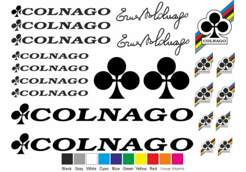 Colnago Bicycle Bike Frame Decals Stickers Adhesive Graphic 22 Pcs Set Vinyl #2