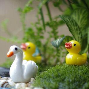 10pcs Miniature Resin Yellow Ducks Dollhouse Craft Fairy Garden Bonsai /_UK