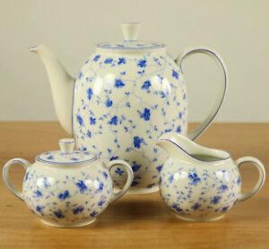 Tischkern-Arzberg-Blaubluete-Kanne-Milch-Zucker-Erstausf-Porzellan-Form-1382
