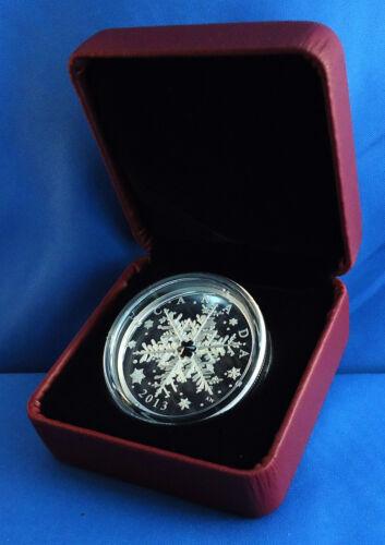 Canada 2013 Winter Snowflake 1 oz Pure Silver $20 Proof Coin Swarovski Crystal