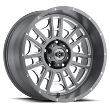 20 Inch 6x1397 4 Wheels Rims Vision 418 Widow 20x12 51mm Grey Milled Fits More Than One Vehicle