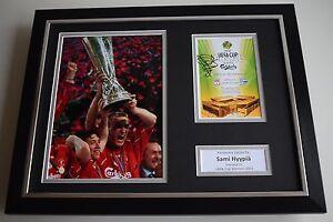 Sami-Hyypia-SIGNED-FRAMED-Photo-Autograph-16x12-display-Liverpool-Football-COA