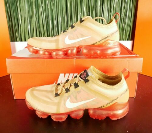 Nike Air VaporMax 2019 Mens Running Shoes Gold Red