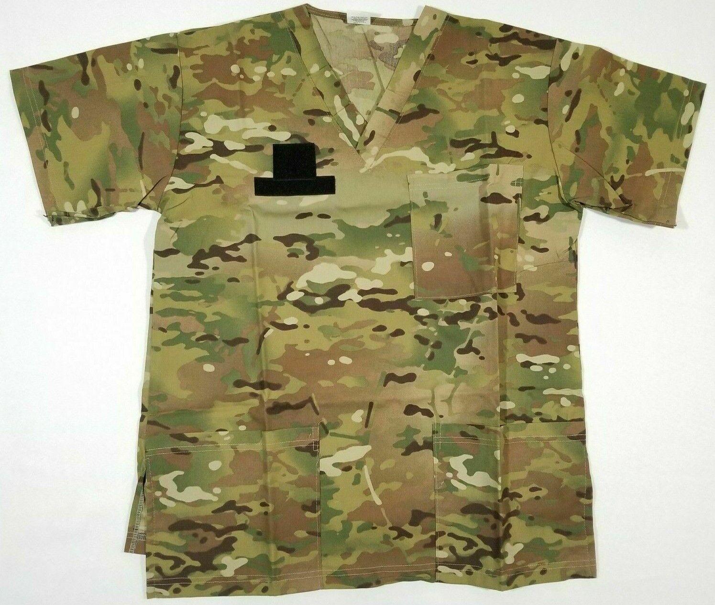 Sharmon Mills Classic Medical Srubs Shirt OCP Small