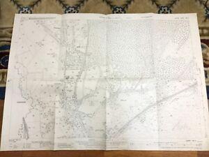 Antique-Map-Frimley-Mytchett-Camberley-1931-Surrey-Hampshire-Hants