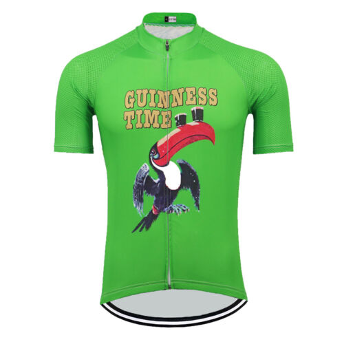 Ireland Guinness Time Beer Cycling Jersey Green