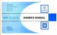 BUICK 1974 Le Sabre Estate Wagon Electra Riviera Original Owners Manual