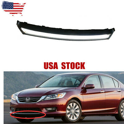 Front Bumper Grille Lower Chrome Molding Trim NEW For Honda Accord 2013-2015