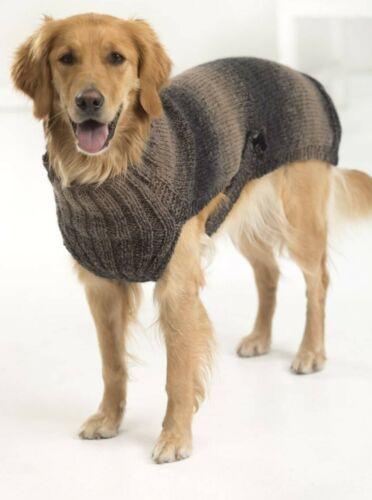 Tejer patrón para Perro Abrigo ~ Multi Tamaño Patrón D15