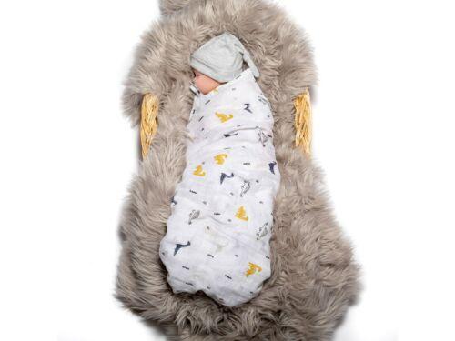 Mulltücher Spucktücher Mullwindeln Baby Babydecke Wickeln 120x120 cm Dinosaurier