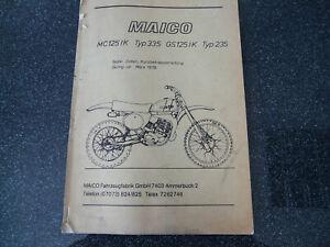 Maico-MC-125-IK-Typ-335-GS-125-IK-Typ-235-Kurzanleitung-Original-03-1978