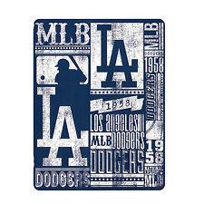 "North West New Baseball Los Angeles LA Dodgers Fleece Throw Blanket 50"" x 60"""