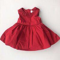 Jason Wu X Neiman Marcus Baby Girls Red Taffeta Lace Holiday Dress $60 12 Mo