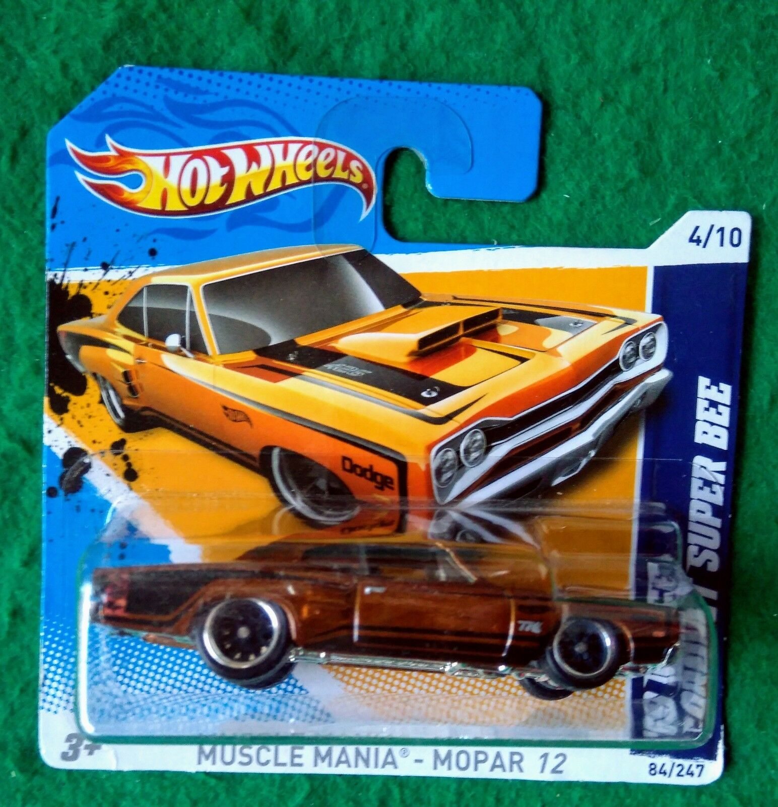 HOT WHEELS 2012 SUPER Treasure Hunt 69 Dodge Coronet Bee UE shortcard T Hunt RR