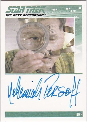 STAR TREK COMPLETE NEXT GENERATION SERIES 1 NEHEMIAH PERSOFF TOFF AUTOGRAPH