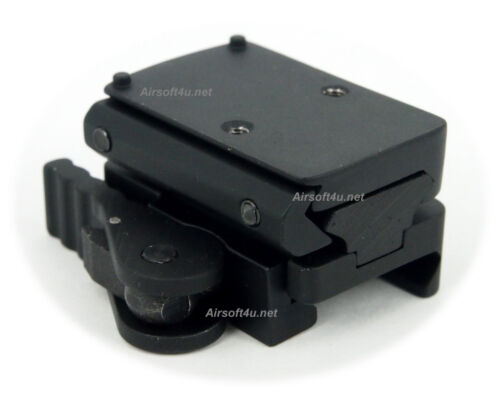 In Black Quick Release Rail Toy RMR Sight Mount Adapter with 15mm Riser