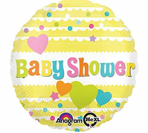 "17/"" YELLOW BABY SHOWER FOIL BALLOON BABY CELEBRATION DECORATION BABY PARTY NEW"