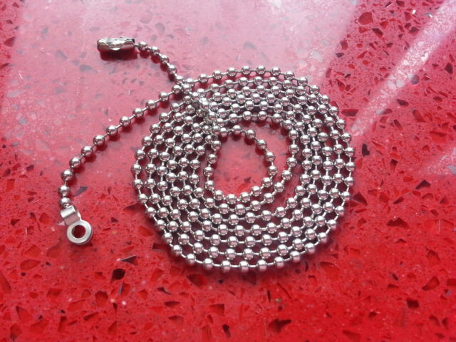 Pull Cord Chain Extension-Chrome-Stainless Steel-2.4mm- 80cm/100cm/150cm FREEP&P