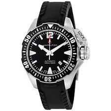 New Hamilton Khaki Navy Frogman Automatic Black Dial Men's Watch H77605335