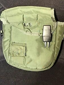 US Army Military 2 Quart Canteen Green Canteen Cover Bag