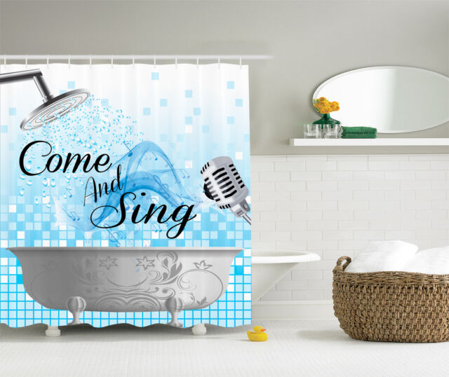 Sing Along Funny Quotes Music Lover Notes Bath Bubbles Blue White