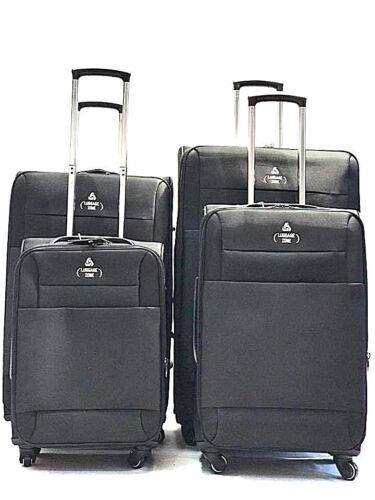 4 roues valise bagage léger étui Souple Extensible Trolley S-M-L-XL Tailles