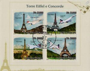 AIR-FRANCE-et-British-Airways-BA-Concorde-TOUR-EIFFEL-AVION-STAMP-SHEET
