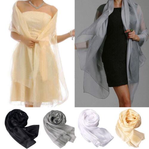 Mode Seidentuch für Damen Grau Schal Seiden-Schal Halstuch Schultertuch