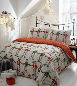 Portfolio Vintage Christmas Duvet Cover Set Festive Bedding Quilt Cover S//D//KS
