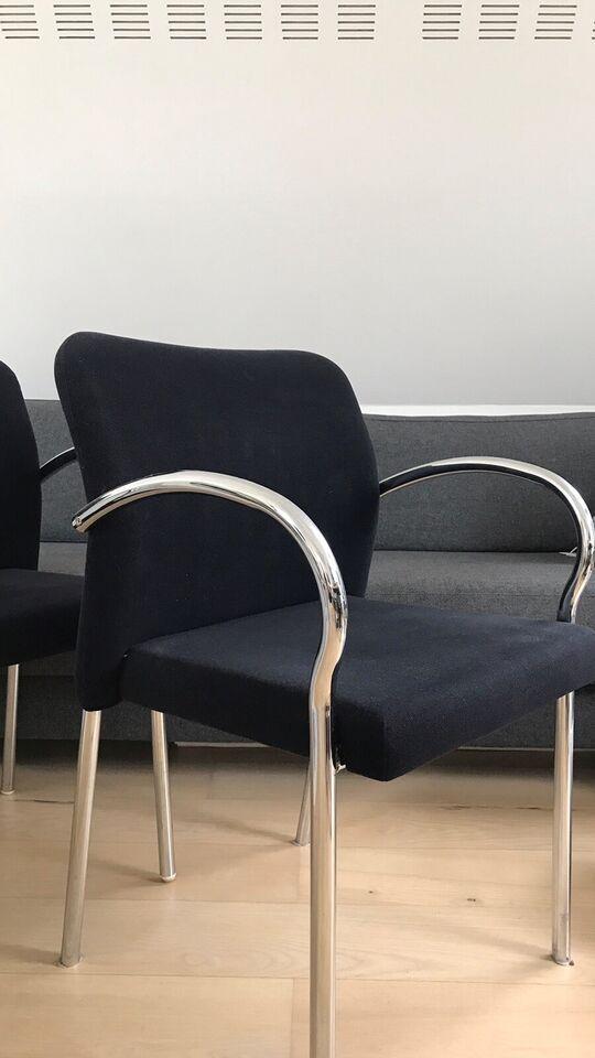Spisebordsstol, Stål og alcantar lign. stof, Købt hos Hay