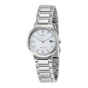 Citizen-Eco-Drive-Women-039-s-Silhouette-Silver-Tone-27mm-Watch-EW2370-57A