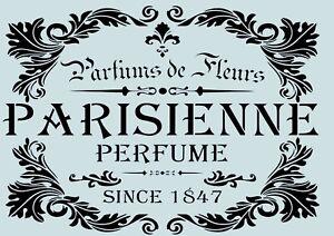 Vintage schablone parisienne f r stoffe m bel torten w nde nr 52 ebay - Schablonen fur wande ...
