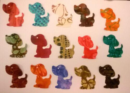 Batik Playful Puppies Chien Tissu Pack restes Patchwork Bundle 100/% coton
