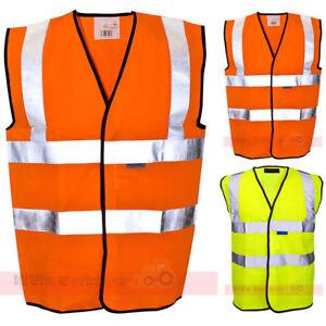 ST-Amarillo-y-naranja-de-alta-visibilidad-Camiseta-EN471-Chaleco-Seguridad
