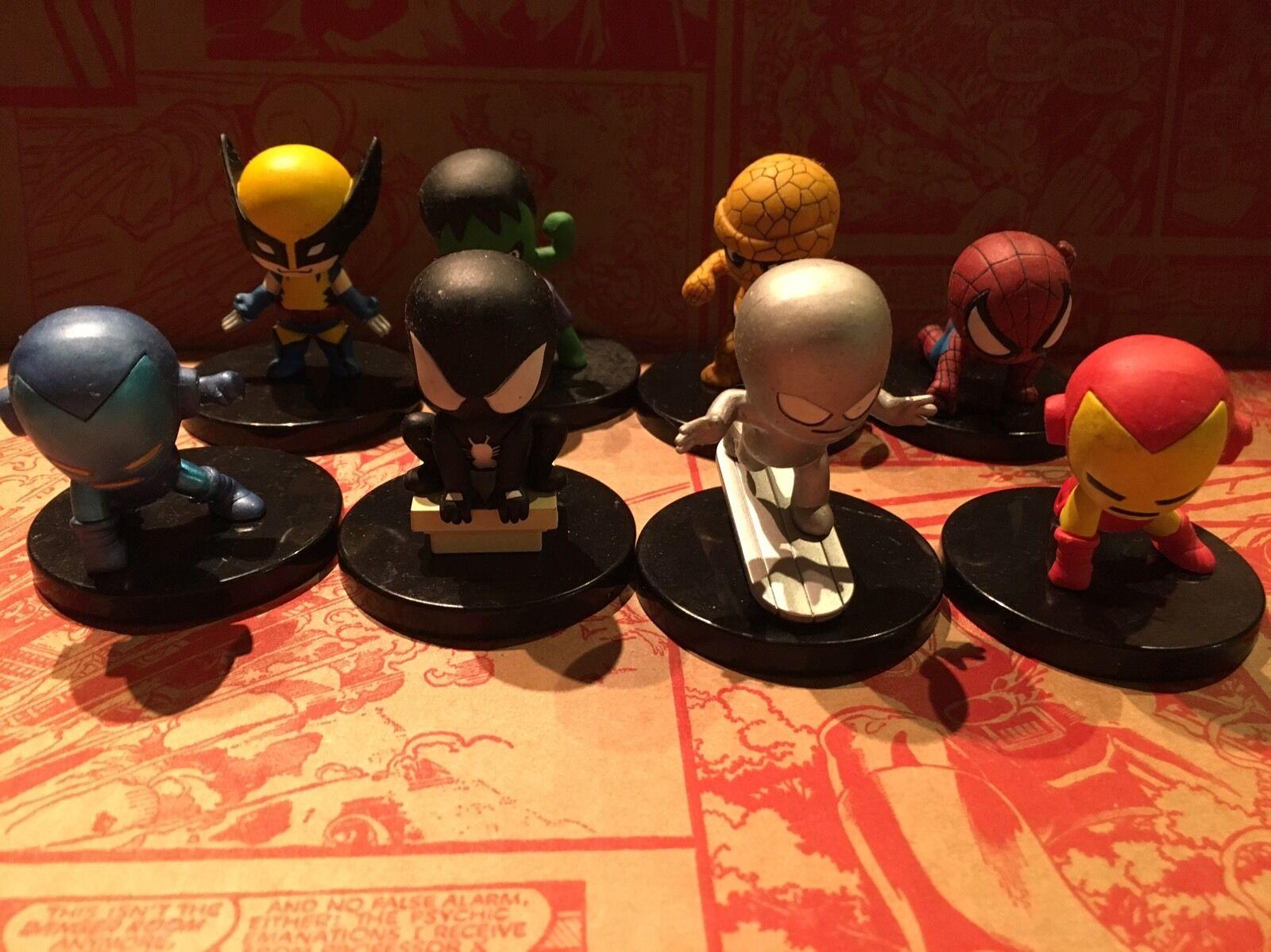 Yujin Asunarosya Time Capsule Marvel Figure Full Set of 8 Iron Man Spider-Man