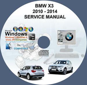 BMW X3 F25 2010-2014 Werkstatthandbuch Workshop Manuell On CD Auto ...