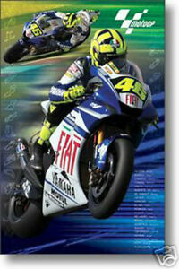 PRINT IMAGE PHOTO MOTOGP POSTER Valentino Rossi in Action RARE NEW 24X36 PW0