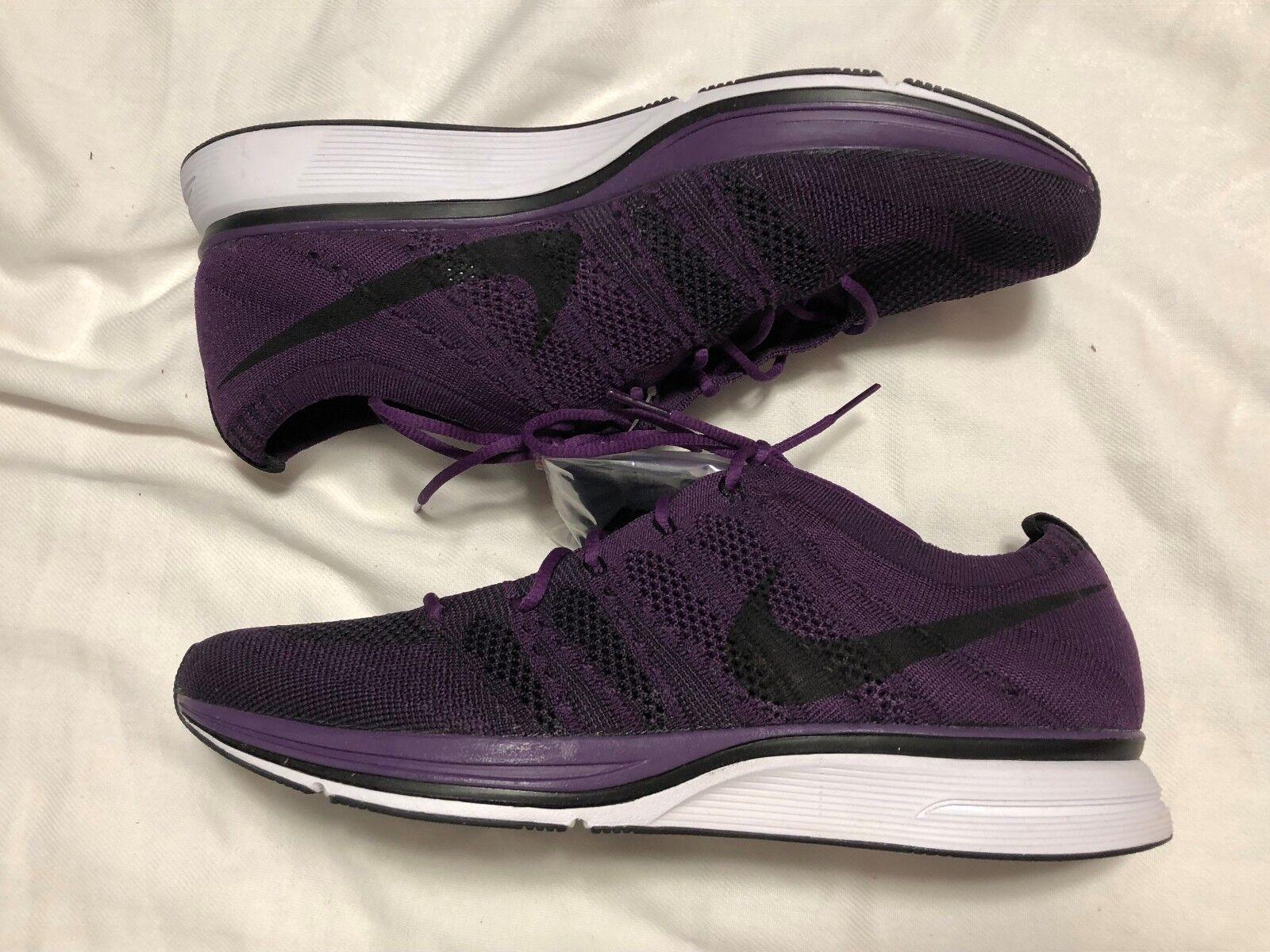 Nike Flyknit Trainer Night  Purple SZ 10.5 NO BOX TOP AH8396-500