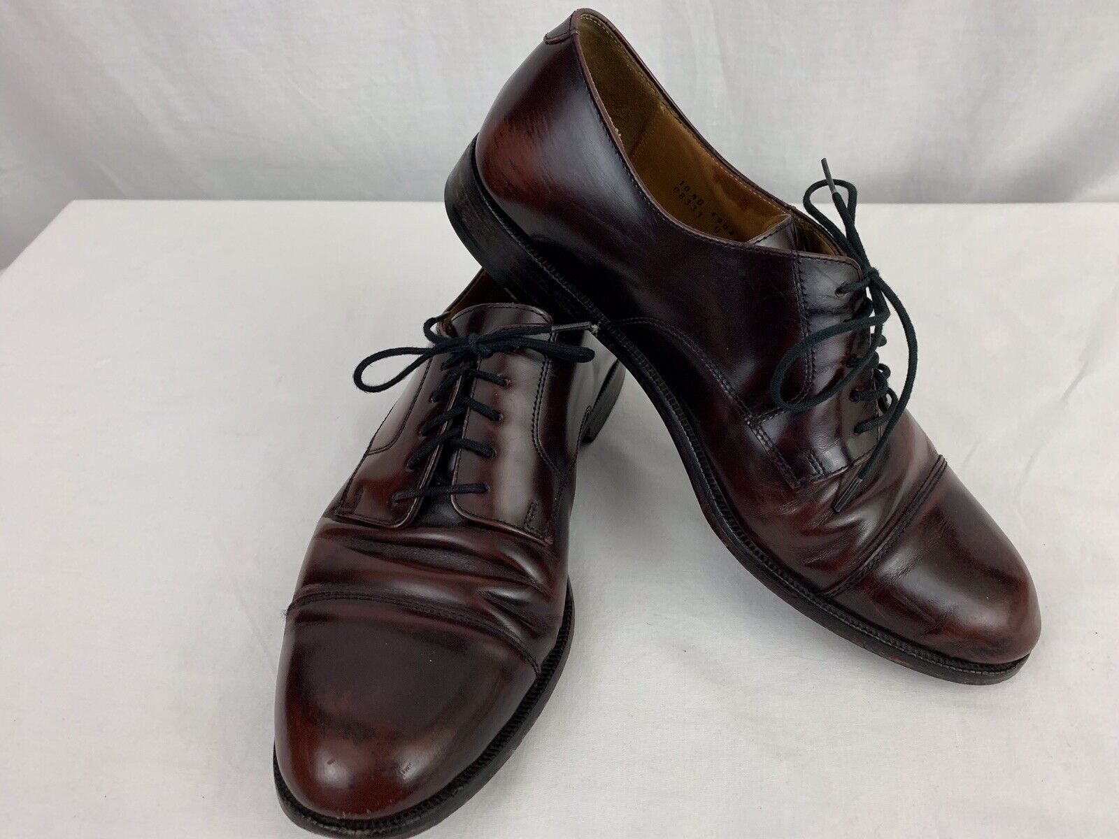 Cole Haan Caldwell Dress Oxfords Mens Size 10.5 D Burgundy Leather Cap Toe 08331