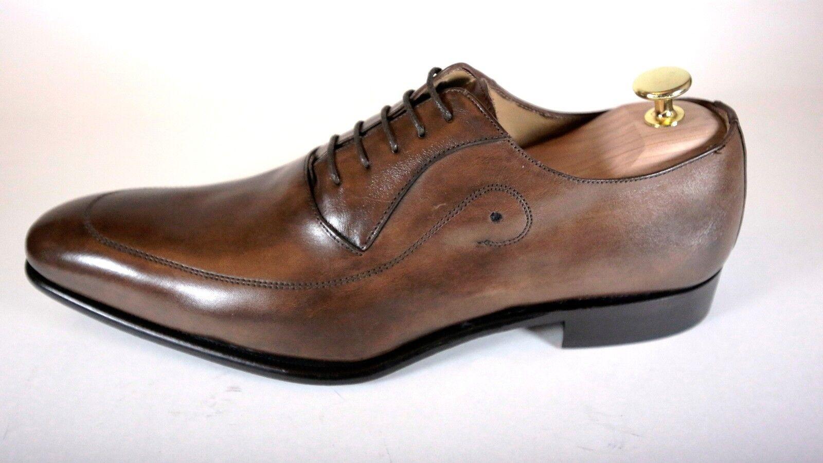 Braun Handgefertigt Italienisches Leder Formelle Schuhe Oxford Büroschuhe       Sale Online Shop